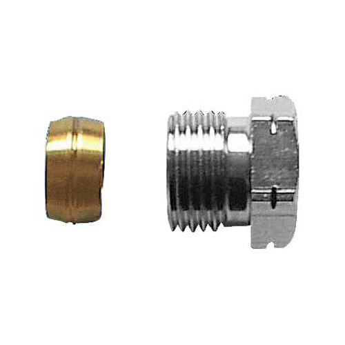 Compression adapter, metal-to-metal joint