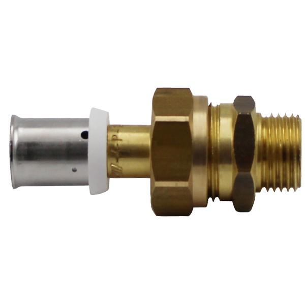 Male thread flat seal union adapter