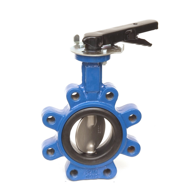 Fully-lugged Lever Butterfly Valve UK Water Reg 4 Compliant
