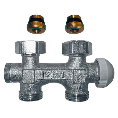 HERZ-3000 Bypass Bodies for One-Pipe Systems with Integrated Thermostatic Valves