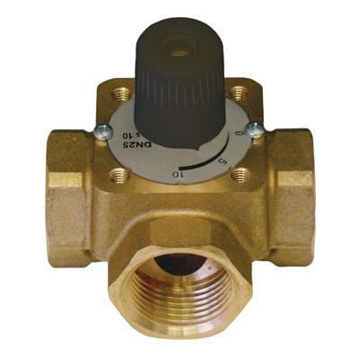 Three port ball control valves