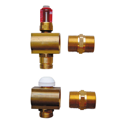 HERZ-Single Outlet set with flow meter control insert