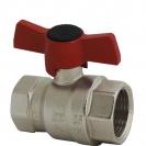 Ball valve with T-handle (alluminium alloy), PN 25, socket x socket
