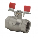 Ball valve with lever (steel, nickel-plated), PN 25, socket x socket