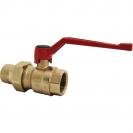 Ball valve with lever (alluminium alloy), PN 16, socket x connection nipple