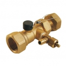 Valve for expansion tank connection