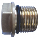 Plug for strainer with thread