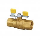Ball valve with steel T-handle