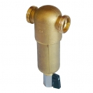 Water filter for hot water