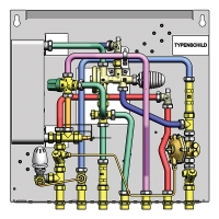 Additional parts for adapting the water heater