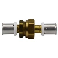 Straight coupling with flat seal union