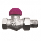 TS-99-FV Thermostatic Low Flow 6 Position Presettable Valve Straight Model