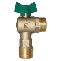 Ball Valve, angle, green, drinking water