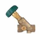 HERZ-Balancing Valves for hydronic balancing in drinking water installations in buildings, inclined model with female thread