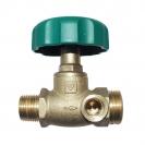 HERZ-Isolating valve, straight pattern male thread x male thread