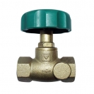 HERZ-Isolating valve, straight pattern female x female thread, without draining
