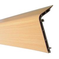 HERZ-Plastic Skirting Board, 4000 x 40 x 88 mm