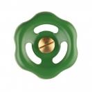 Handwheel green with fixing screw