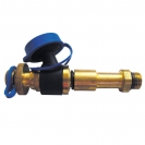 Extended test point, drain function, blue cap