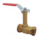 HERZ-ball valve with union nut and flat sealing connection, EURO, DR