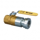 Ball valve with steel lever