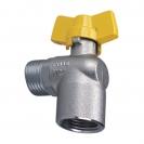 Ball valve with duraluminium T-handle