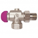 TS-99-FV Thermostatic Low Flow 6 Position Presettable Valve reverse Angle Model