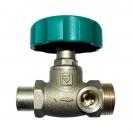 HERZ-Isolating valve, straight pattern soldered end x male thread,