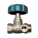 HERZ-Straight pattern Shutoff valves with draining