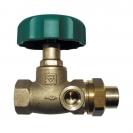 HERZ-Isolating valve, straight pattern female x male thread + soldered union