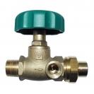 HERZ-Isolating valve, straight pattern male thread x male thread + soldered union