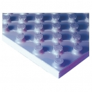 Studded Panel with insulation, black,