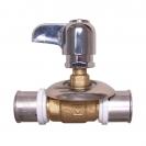 Ball valve for flush mounting